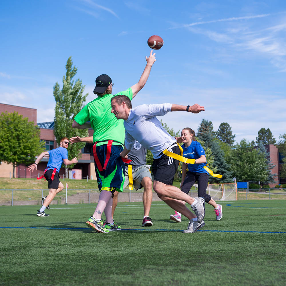 flag football, game, outdoor field, intramurals