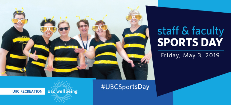 staff and faculty sports day, event graphic