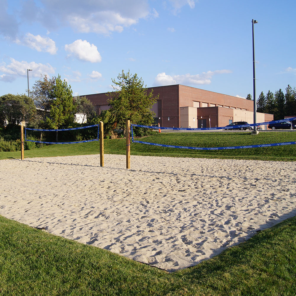 outdoor volleyball court, facility