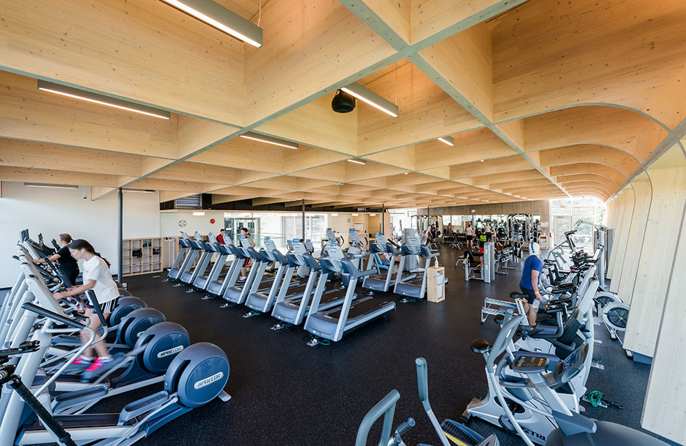 hangar fitness centre, facility, work out equipment