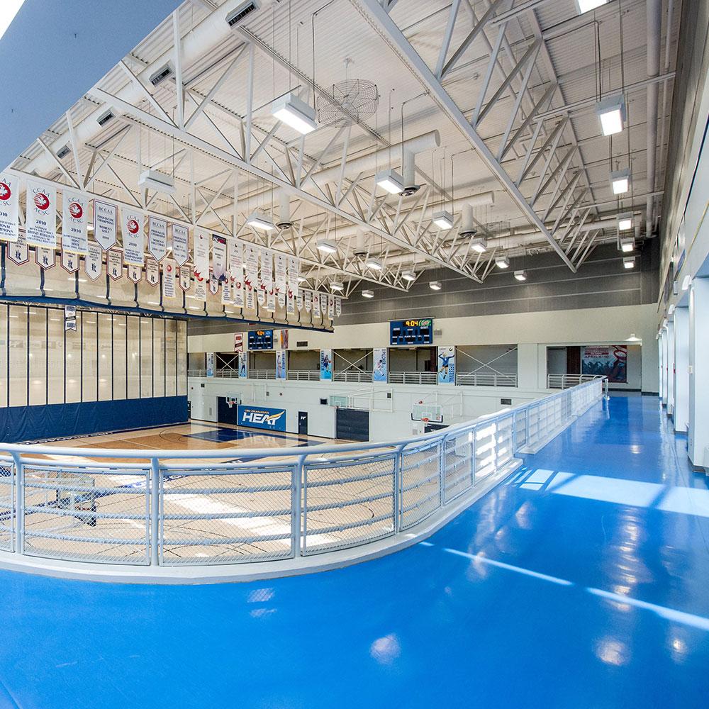 running corridor, gymnasium, facility