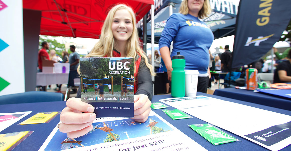 volunteer, ubc recreation, get involved
